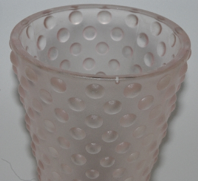 "Lamps II #0036  ""Older Fancy Pink Frosted Glass Vase"""