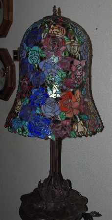 "LAMPS II #0336  ""Tiffany Style ""Roses"" Table Lamp"""