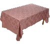 "MBA # H515 ""Mauve Stain Resistant Floral Jacquard Table Cloth"""