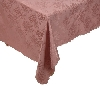 "MBA #1512  ""Mauve 60x102 Stain Resistant Floral Jacquard Table Cloth"""