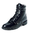 "MBA #1313-314  ""Justin Ladies Black Cow Leather Lace Up Boots"""