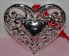 "MBA #1313-167    ""Lenox Set Of 2 Silver Plated Heart Ornaments"""
