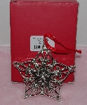 "MBA #L1313-183   ""Lenox Set Of 2 Silver Plated Snowflake Ornaments"""
