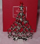 "MBA #1313-190    ""Lenox Set Of 2 Silver Plated Tree Ornaments"""