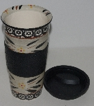 "MBA #1313-0013  ""Black Old World Pattern Ceramic Tumbler"""