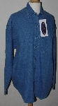 "MBA #1313-0028  ""Mens Extra Large Blue Diamond Denim Shirt"""