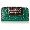 "MBA #1515-0143    ""Madi Claire ""Lisa"" Croco Embossed Leather Wallet"""