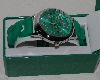 "*MBA #1515-0080    ""Green Gossip Silicone Strap Watch"""