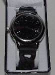 "*MBA #1515-0083    ""Gossip Black Silicone Strap Watch"""