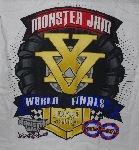 "MBA #1515-0064  ""Set Of 2 Monster Jam World Finals 2014 Double Down T-Shirts"""