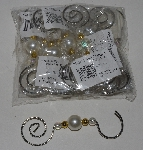 "MBA #1515- 0007  ""Set Of 9 Beaded Metal Ornament Hangers"""