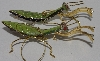 "MBA #1616-0357    ""Set Of 2 Green Praying Mantis Cloisaonne Ornaments"""