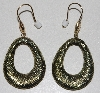 "MBA #1616-378   ""14K Yellow & Green Gold Puffed Hoop Earrings"""