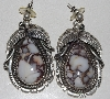 "+MBA #1616-0240  ""Robert Kelly Sterling Set Crazy Horse Gemstone Earrings"""