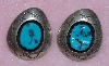 "MBA #1616-305  ""Signed Blue Turquoise Earrings"""