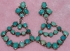 "MBA #1616-0281  ""May Bennett Signed Green/Blue Turquoise Earrings"""