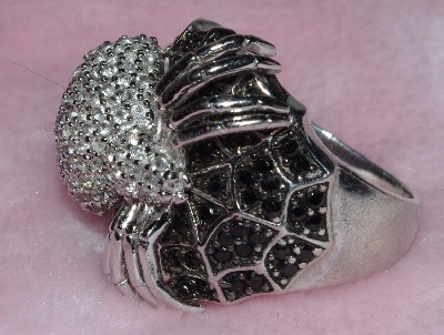 "MBA #1616-273  ""Gem Treasures Sterling 2.89 CT Spinel & Topaz Spider Ring"""