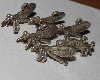 "MBA #1515-0179  ""Set Of 6 Sterling Side View Dragonfly Pendants/Charms"""
