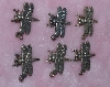 "MBA #1616-0027  ""Set Of 6 Sterling Dragonfly Pendant/Charms"""