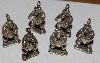 "MBA #1515-0186  ""Set Of 6 Standing Bear Pendants/Charms"""