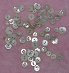 "MBA #1616-0084  ""Vintage Lot Of 70 Small White Shell Buttons"""