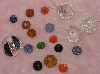 "MBA #1616-088  ""Vintage Lot Of 17 Mixed Glass Buttons"""