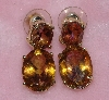 "MBA #1616-0332  ""14K Yellow Gold Golden Topaz Earrings"""