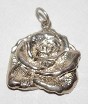"MBA #1818-0207  ""Fancy Sterling Rose Pendant"""