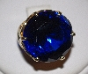 "MBA #1818-0138  ""Fancy Set 12K Yellow Gold Large Blue Iolite Ring"""