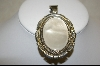 **  Artist Signed Large Mother Of Pearl Sterling Pendant