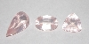 "MBA #1818-0177  ""Set Of 3 Fancy Cut Rose Quartz Gemstones"""