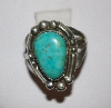 "MBA #1818-0111  ""Small Bule Turquoise Signed Thomas J Ring"""