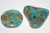 "MBA #1818-0156  ""Set Of 2 Cut & Polished Turquoise Stones"""