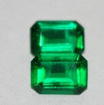 "MBA #1818-099  ""Set Of 2 Square Cut Emerald Green CZ's"""