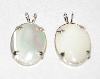 "MBA #1818-200  ""Set Of 2 Sterling Mother Of Pearl Pendants"""