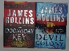 "MBA #2020-0015  ""James Rollins ""The Devil Colony"" & ""The Doomsday Key"" Hard Cover Books"""