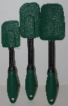 "MBA #2020-0071 ""Set Of 3 Large Dark Green Silicone Spatulas"""