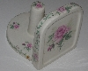 "MBA #2020-0180  ""Pink Rose Ceramic Paper Towel Holder"""