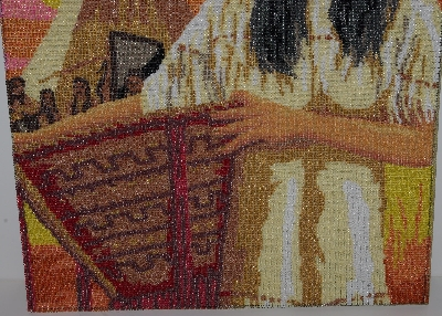 "MBA #2020-0111 ""Hand Beaded  ""La Squaw"" Tapestry"""