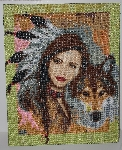 "MBA #2020-0089  ""Collection D' Art Hand Beaded Tapestry"""