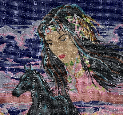 "MBA #2020-103  ""Collection D' Art Hand Beaded Tapestry"""