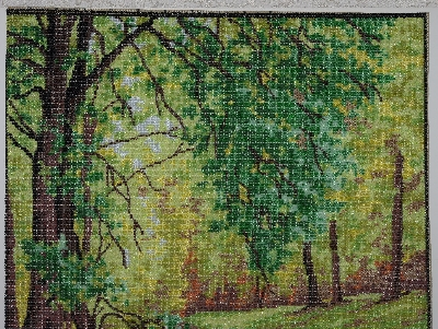 "MBA #2020-0019  ""Collection D' Art Hand Beaded Tapestry"""