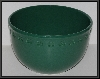 "MBA #2323-0028  ""2003 Chantal 12 Cup Green Ceramic Clover Mixing Bowl"""