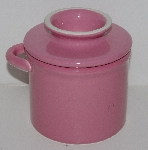 "MBA #2323-0064  ""Pink Ceramic Butter Crock"""