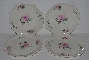 "MBA #2323-0092  ""Set Of 4 Pink Rose Bavarian Style Salad Plates"""