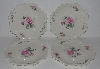 "MBA #2323-0101  ""Set Of 4 Pink Rose Bavarian Style Dinner Plates"""