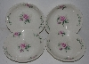 "MBA #2323-0089  ""Set Of 4 Pink Rose Bavarian Style Soup/Salad Bowls"""