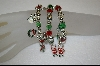 **  Set of Three Christmas Stretch Bracelets W/ Metal Charms