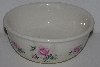 "MBA #2323-0115  ""Ceramic Small  Pink Rose Mixing Bowl"""