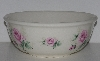 "MBA #2323-0121  ""Mediun Pink Rose Ceramic Mixing Bowl"""